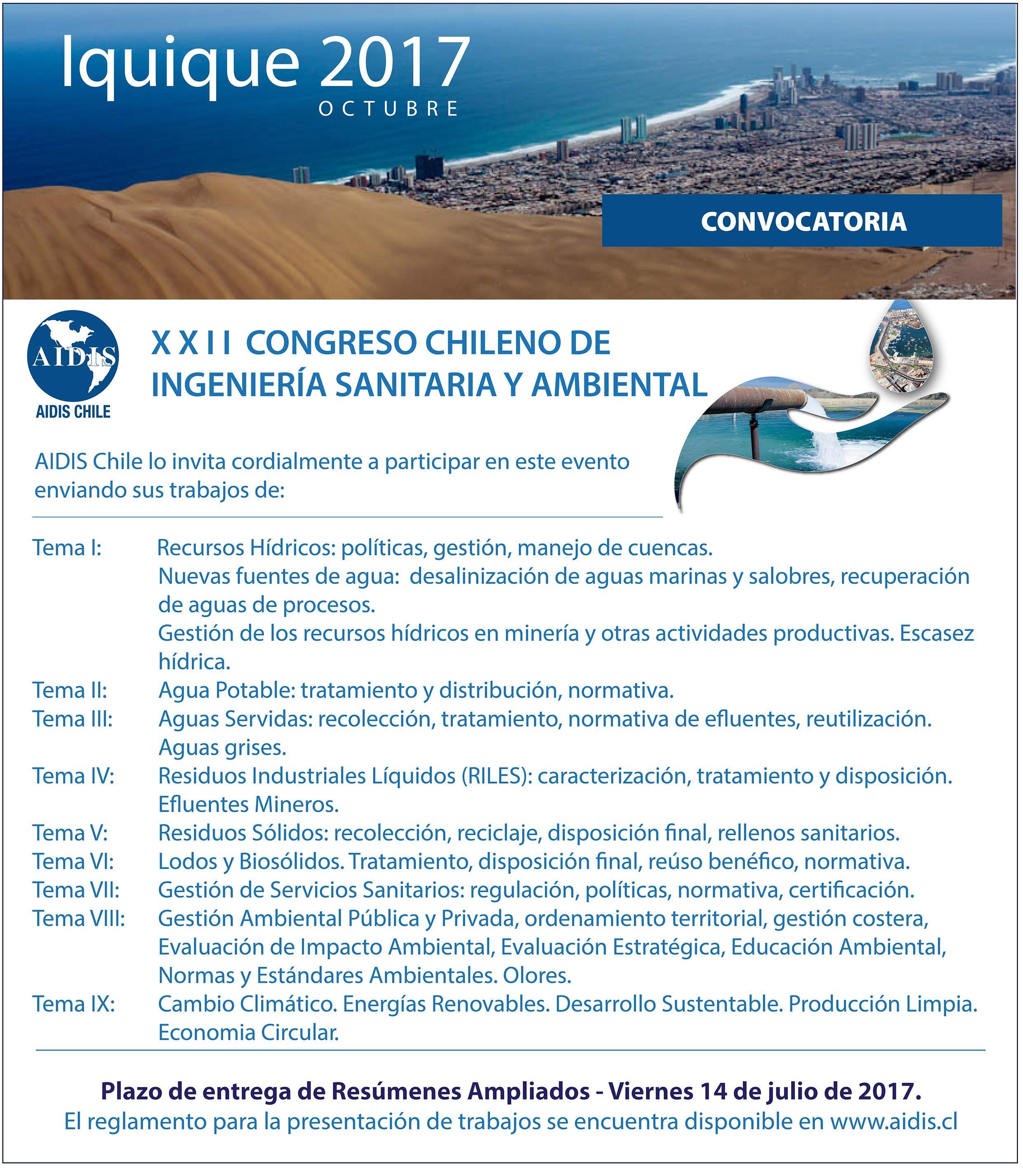 Convocatoria Congreso 2017